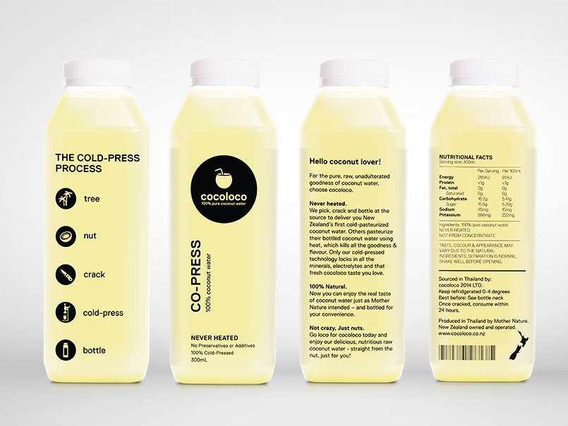 Image of Cocoloco Bottle Packaging